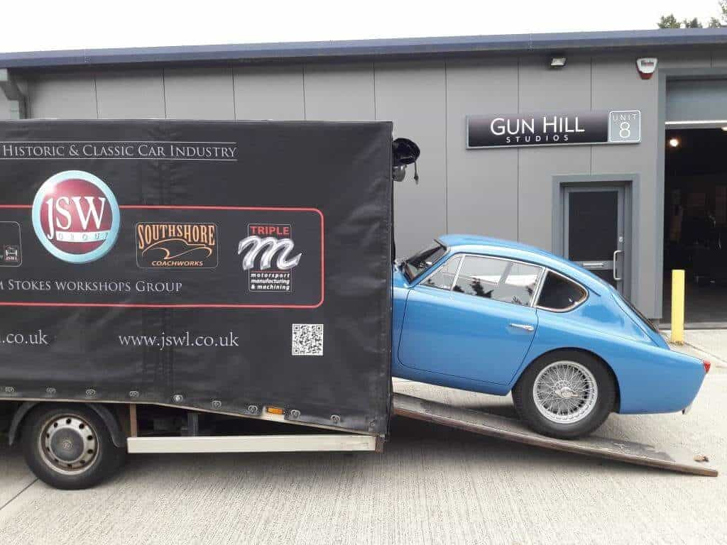 AC Bluebird unloaded at Gunhill Studios