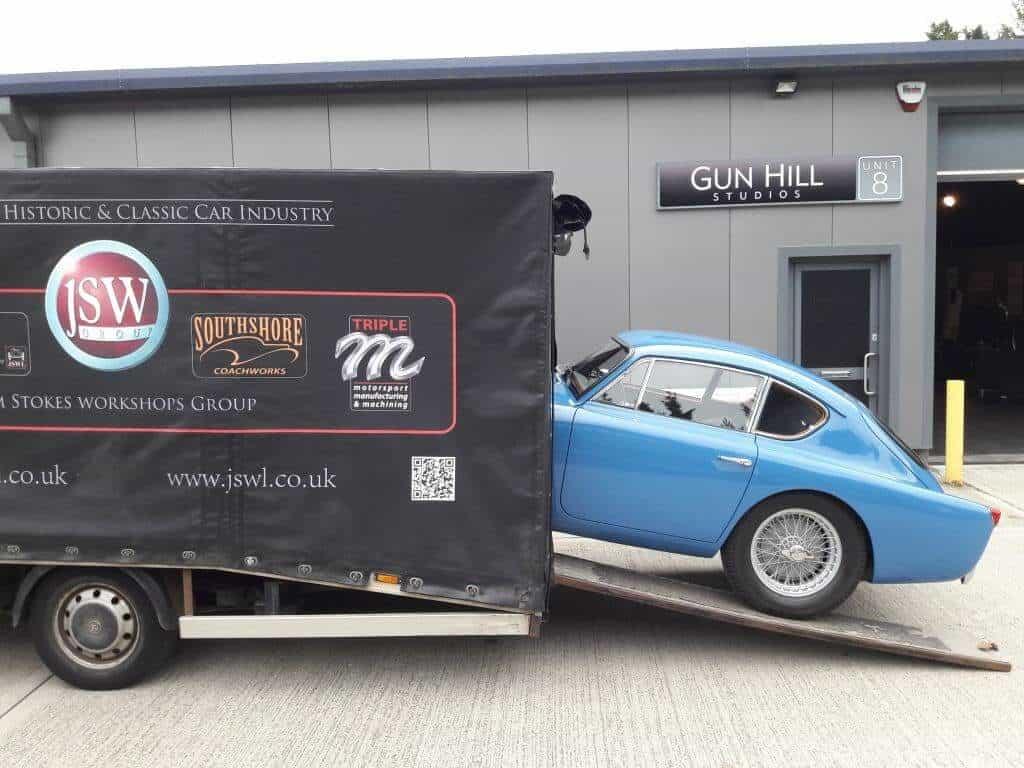 AC Bluebird unloaded at Gunhill Studios