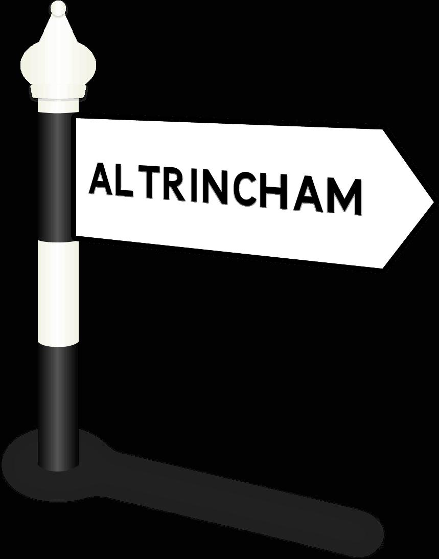 Altrincham Road Sign