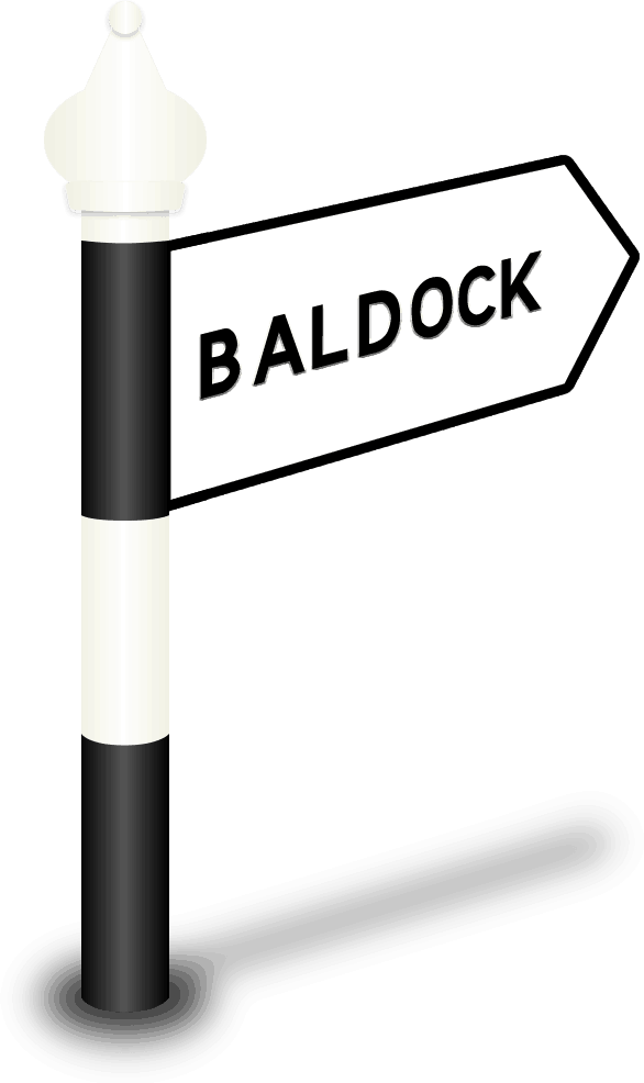 Baldock Road Sign