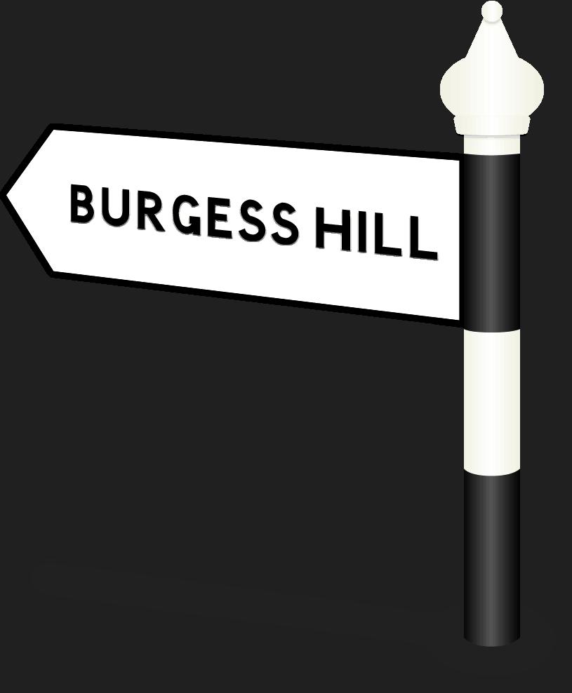 Burgess Hill Road Sign
