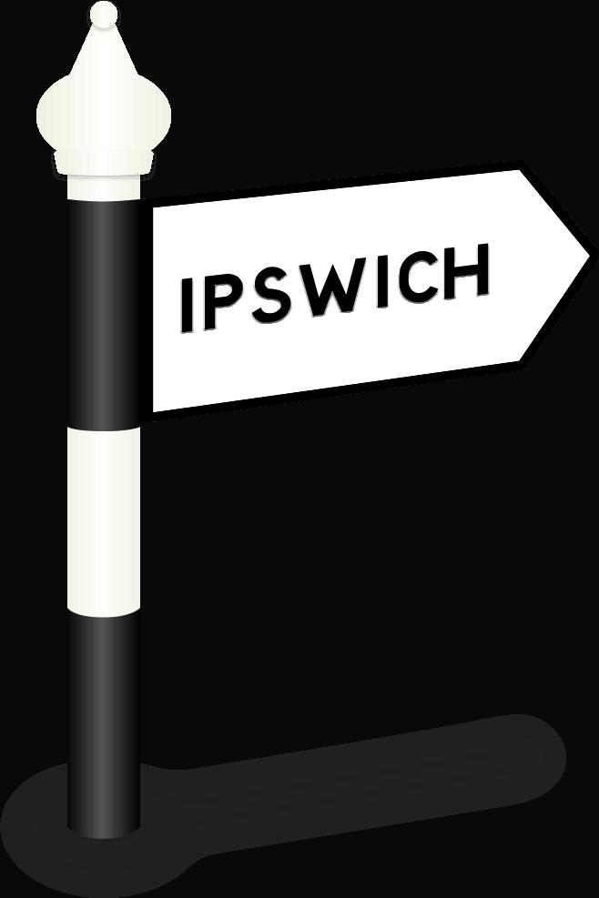 Ipswich Road Sign