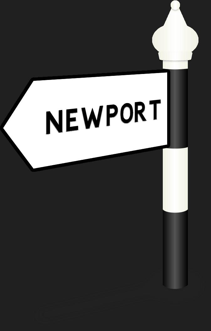 Newport Road Sign