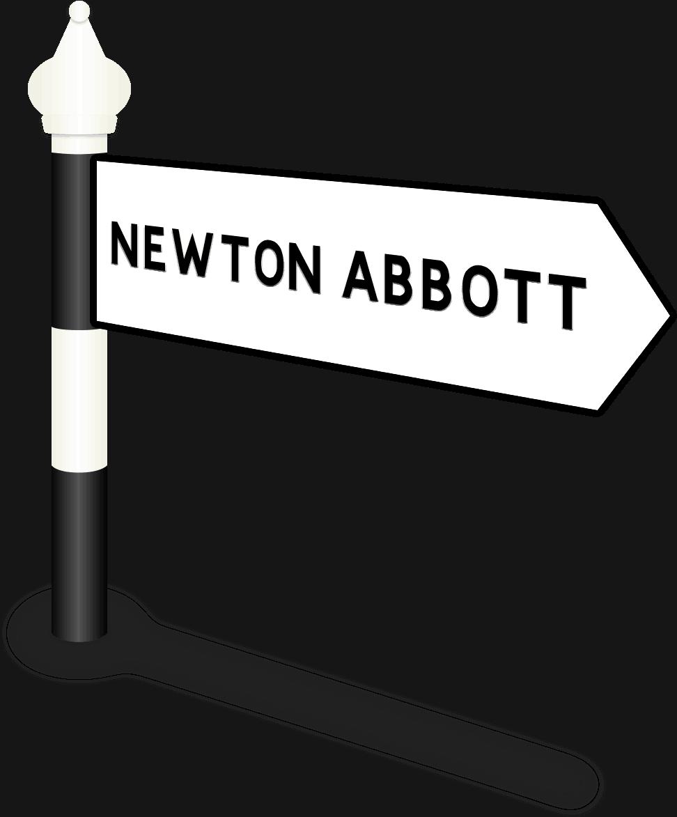 Newton Abbott Road Sign
