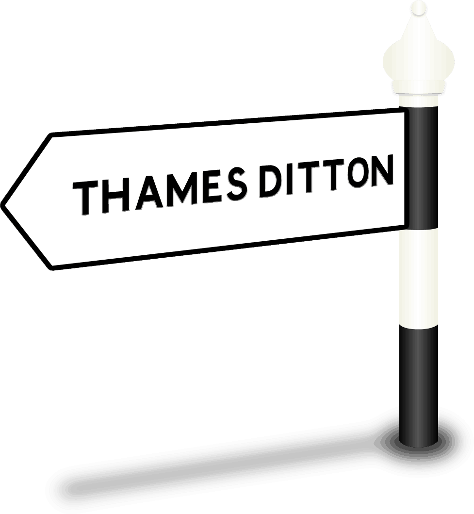Thames Ditton Road Sign