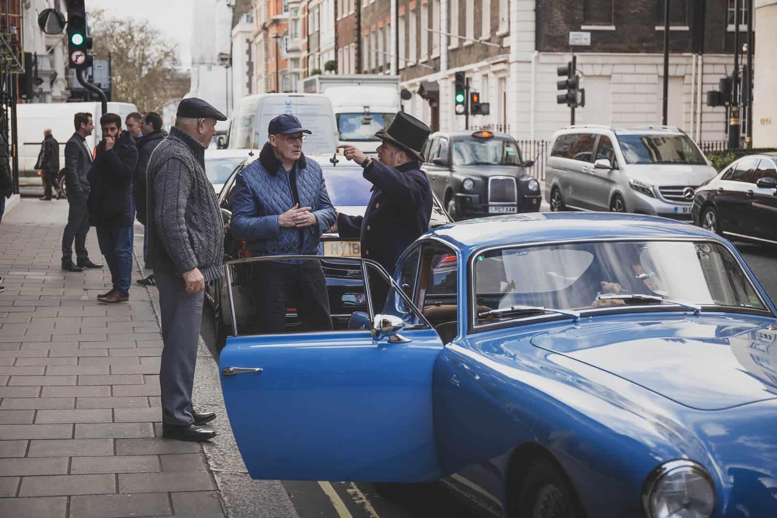 AC Bluebird outside Claridge's Mayfair London