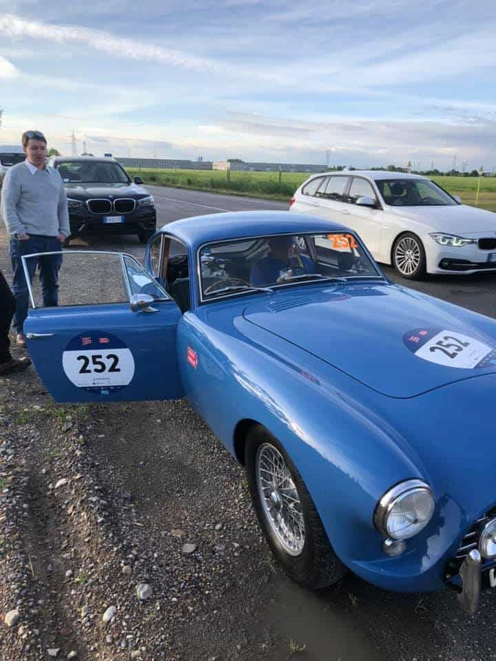 AC Bluebird on first section of Mille Miglia 2019