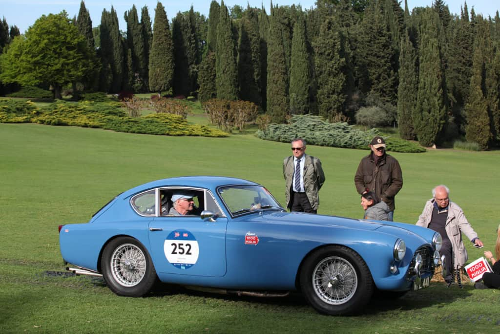 Mille Miglia 2019 - AC Bluebird at a Checkpoint in Tuscany
