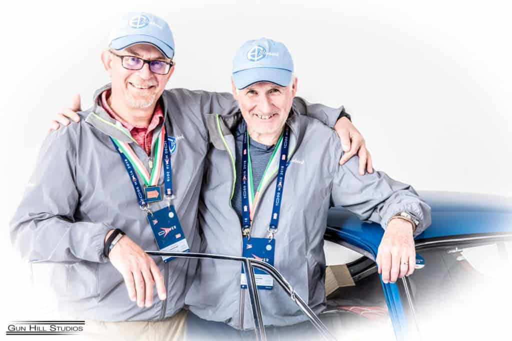 Mille Miglia 2019 - AC Bluebird navigator Duncan and driver Kevin Shilling when it was all over