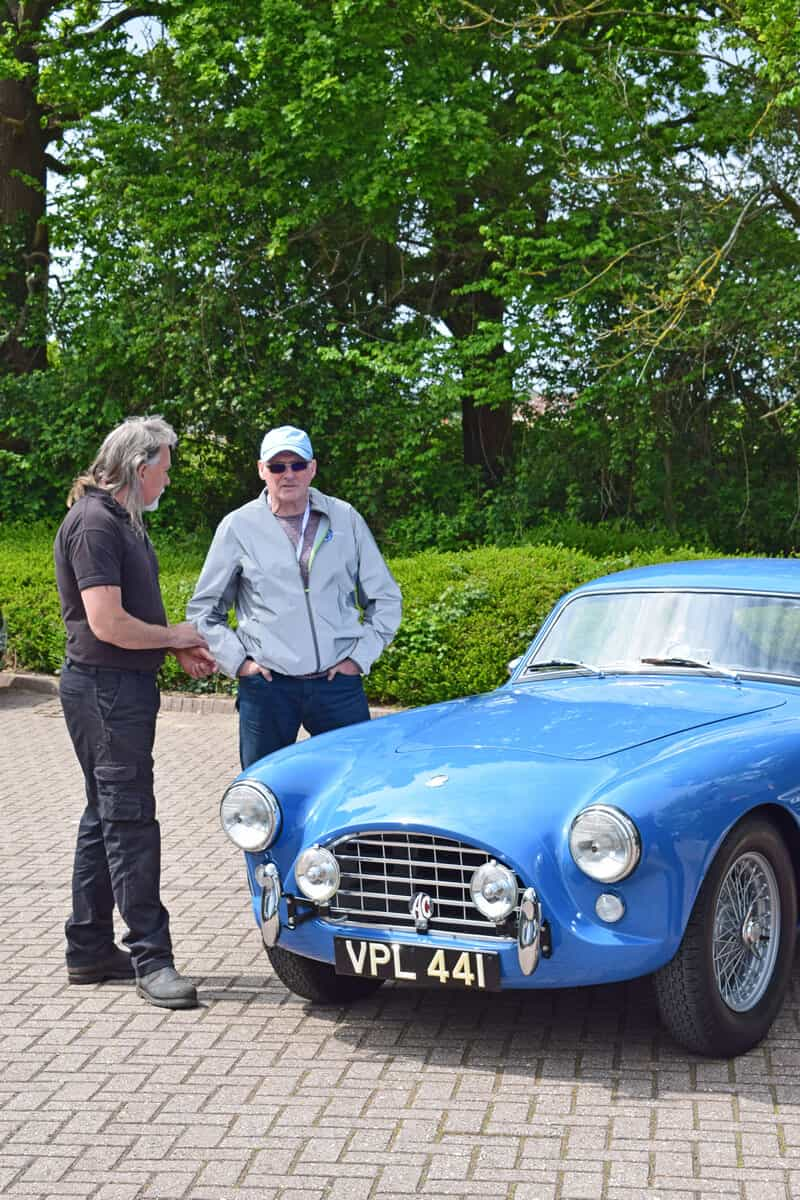 The AC Bluebird Mille Miglia Team Inspect
