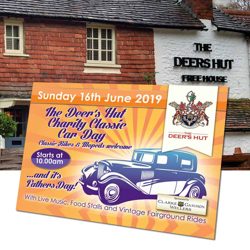 The Deer's Hut Charity Classic Car Day, Sunday 16th June 2019 - Father's Day
