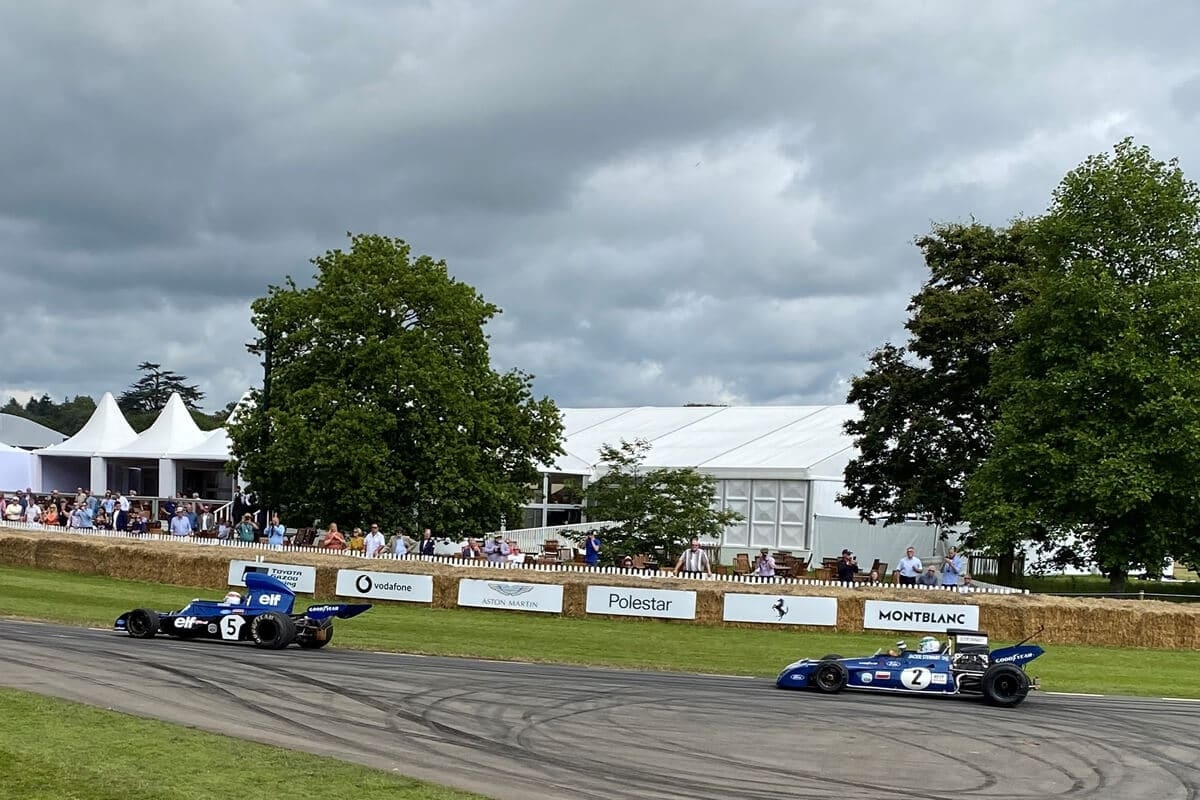 Sir Jackie Stewart on the hill at Goodwood Festival of Speed, FOS